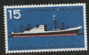 Germany Scott 767 MNH** 1957 ship stamp