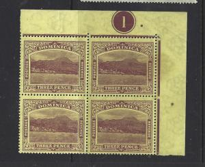 DOMINICA (P1908B)  3D  SG 51AB CONTROL BL OF 4  MNH