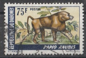 Dahomey 1969 Animals 75c (1*/5) USED