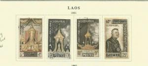 LAOS 1961 SCOTT 66-9 MH/USED
