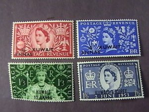 KUWAIT # 113-116-MINT/HINGED---COMPLETE SET---QEII---1953