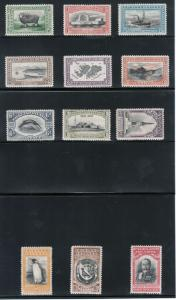 Falkland Islands #65 - #76 Very Fine Mint Full Original Gum Hinged Set
