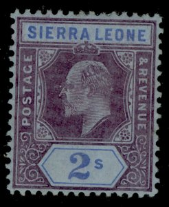 SIERRA LEONE EDVII SG109, 2s purple and bright blue/blue, M MINT. Cat £26.