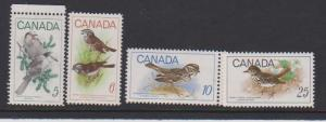CANADIAN SET ON BIRDS MNH #7(4) STAMPS  LOT#308