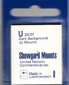 SHOWGARD BLACK MOUNTS U 33/27 (40) RETAIL PRICE $3.95
