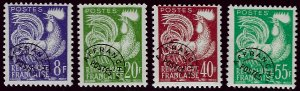 France SC#952-955 Mint OG F-VF SCV$42...French stamps are Iconic!