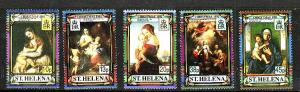 St Helena-Sc#556-60-unused NH set-Christmas-Paintings-Titian-1991-