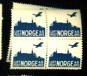 NORWAY #C2 (10) MINT VF OG NH Cat $45