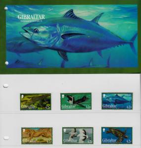Gibraltar 2013 MNH Endangered Animals III 6v Set Pres Pack Fish Birds Cheetah