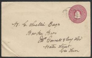 BR GUIANA 1902 2c envelope scarce ARAKAKA cds..............................49668