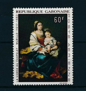 [104636] Gabon 1968 Art painting Madonna with child From set MNH