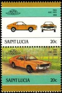 Antique Automobile, 1969 AMC, St. Lucia stamp SC#850 MNH