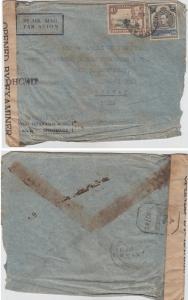 K.U.T.  1945  Mombasa  Cover To India Censored   63105