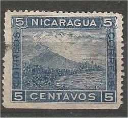 NICARAGUA, 1899, used 5c, Mt. Momotombo Scott 113