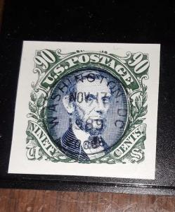USA 90c 1989 first day single - Green