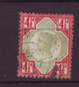 J19733 Jlstamps 1887-92 great britain used #117 queen