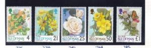 Isle of Man Sc 766-0 1998 Flowers stamp set  NH