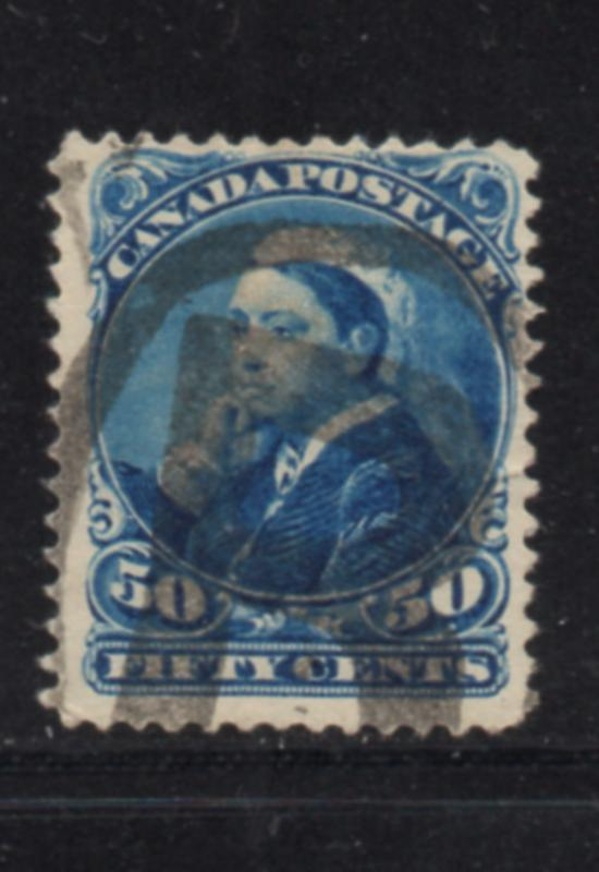 Canada Sc 47 1893 20c Queen Victoria in Widow Weeds stamp used