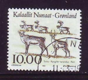Greenland Sc 264 1993 10kr caribou stamp used