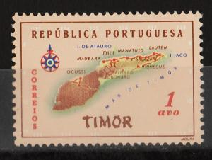 Timor 1956 Map of Timor 1a (1/8) USED