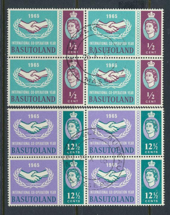 Lesotho / Basutoland  SG 100 / 101 Used Blocks  - Internation Co-operation