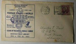 Postal Stamps of The World Expo Boston Public Library Boston MA 1933 Cachet
