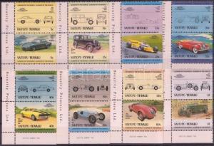 Tuvalu-Vaitupu stamp Cars (II) 8 pairs MNH 1984 Mi 21-36 WS143099