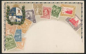 Mauritius Ottmar Zieher embossed stampcard Munich No. 89 Map