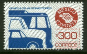 MEXICO Exporta 1136a, $300P Cars/Buses Fosfo Paper 7 BUR. TY II. MINT, NH. VF.