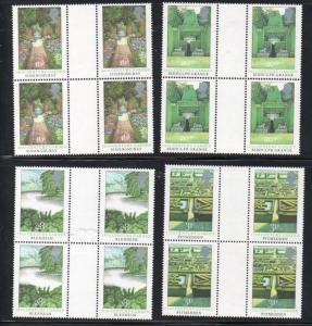 Great Britain Sc 1027-30 1983 Kew Gardens stamps gutter blocks of 4 mint NH