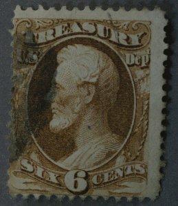 United States #O75 6 Cent Treasury Revenue Used