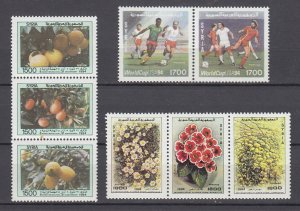 J28864, 1994 syria sets strips/3 and pair mnh #1308,1313,1316,