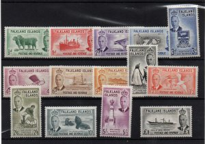 Falkland Islands 1952 KGVI mint LHM set to £1 SG WS22192