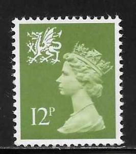 Great Britain Wales WMMH17 12p Machin MNH