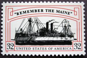 3192 Remember The Maine US Single Mint/nh FREE SHIPPING