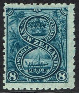 NEW ZEALAND 1902 PICTORIAL 8D WMK STAR NZ PERF 11