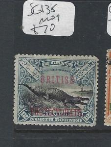 NORTH BORNEO (P2501B)   12C CROCODILE  BPE  SG 138  MOG