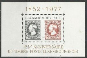Luxembourg ---  Scott # 603 - MH (s/s)
