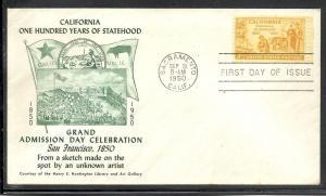US #997-15 California Fulton cachet unaddressed