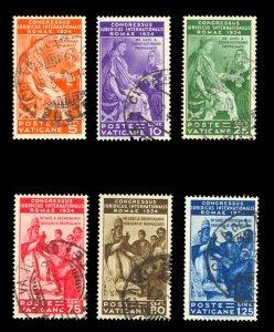 Vatican City #41-46 Used CV$199.00 Juridical Congress CDS Gregory Justinian [...