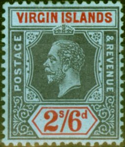 Virgin Islands 1913 2s6d Black & Red-Blue SG76 Fine Mint Never Hinged