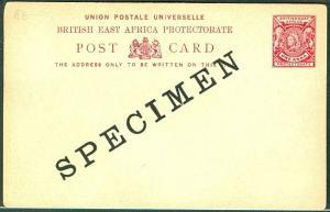 BRITISH EAST AFRICA 1896, H & G #8, 1 Anna 'SPECIMEN'
