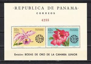 Panama, Scott cat. C348a. Flowers s/sheet with Orchid value. ^