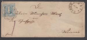 Thurn & Taxis, Northern District, Sc 10 on 1864 Cover, Eisenach to Weimar