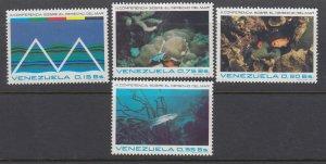J28044 1974 venezuela set mnh #1062-5 fish