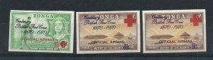 Tonga - SG# O55 - O57 MH / Imperfs   -   Lot 0720607