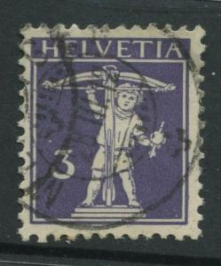 Switzerland - Scott 147 - Definitive Issue -1909 - VFU -Single 3c Stamp