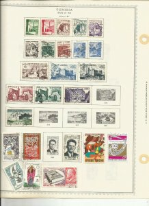 TUNISIA  OLD  MH/USED COLECTION WITH CLASSICS 7 PAGES