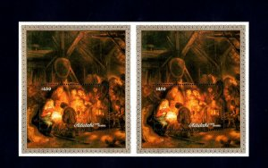 AITUTAKI - 1988 - CHRISTMAS - REMBRANDT - SHEPHERDS + MINT MNH DOUBLE S/SHEET!