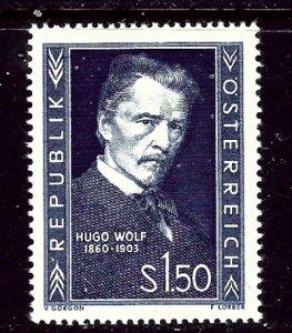 Austria 587 MNH 1953 Hugo Wolf    (ap3845)